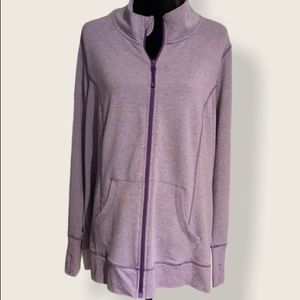 Active Zone (2X) Zip Up Jacket-soft stretchy comfy